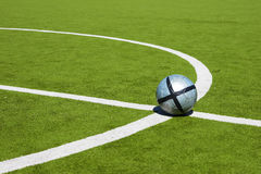 Soccer ball on a line Royalty Free Stock Images