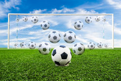 Soccer ball line Royalty Free Stock Photo