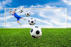 Soccer ball line Royalty Free Stock Images