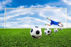 Soccer ball line Royalty Free Stock Photos