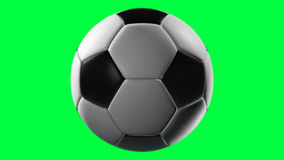 Soccer Ball, loop seamless, alpha channel. Rotation on a transparent background, the ability to impose without cutting any footage stock illustration