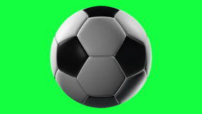Soccer Ball, loop seamless. Isolated on green screen royalty free illustration
