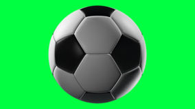 Soccer Ball, loop seamless. Isolated on green screen stock illustration