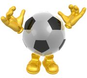 Soccer ball mascot illustration Royalty Free Stock Image
