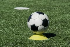 Soccer Ball on a Meadow Royalty Free Stock Images