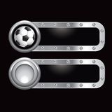Soccer ball metal banners Stock Image