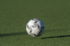 Soccer ball in motion royalty free stock photos