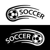 Soccer ball motion line symbol Stock Image
