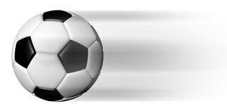 Soccer ball  in motion. On white Royalty Free Stock Photography