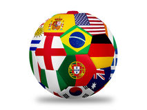 Soccer ball. Nation team flag soccer ball  on white with clipping path Royalty Free Stock Image
