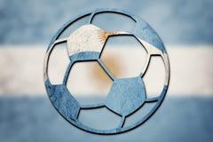 Soccer ball national Argentina flag. Argentina football ball. Football stock illustration