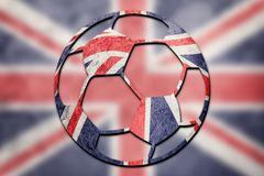 Soccer ball national Great Britain flag. Union Jack football bal. L. Football Stock Images