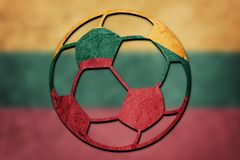 Soccer ball national Lithuania flag. Lithuanian football ball.
