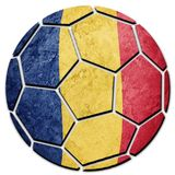 Soccer ball national Romania flag. Romanian football ball. Football Stock Image