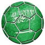 Soccer ball national Saudi Arabia flag. Saudi Arabia football ba