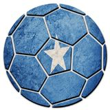 Soccer ball national Somalia flag. Somalia football ball. Football royalty free stock image
