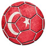 Soccer ball national Turkey flag. Turkish football ball. Football royalty free stock photography
