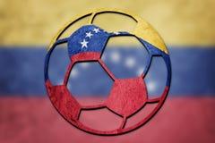 Soccer ball national Venezuela flag. Venezuela football ball. royalty free stock photography