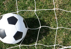 Soccer Ball on the Net Stock Photos