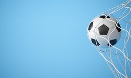 Soccer ball in net Stock Image