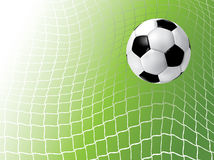 Soccer ball in net. Soccer ball in the goal Stock Images
