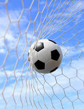 Soccer ball in net Royalty Free Stock Photo