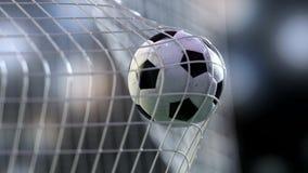 Soccer ball in the net. 3d rendering. Stock Photo