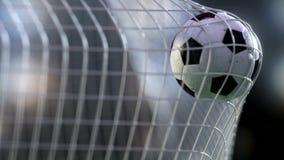 Soccer ball in the net. 3d rendering. Stock Image