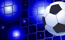 Soccer ball in the net gate. Soccer background Stock Images