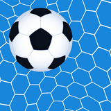 Soccer ball in the net Stock Photos