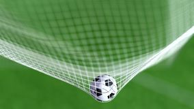 Soccer ball net, slowmotion 4k