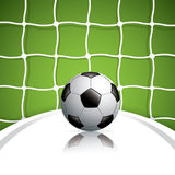 Soccer ball in net Stock Photo