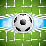 Soccer ball in net Royalty Free Stock Photography