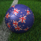 Soccer Ball with New Zealand Flag Royalty Free Stock Image