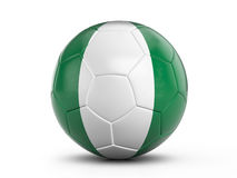 Soccer ball Nigeria flag Royalty Free Stock Photo
