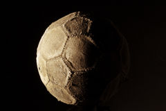 Soccer ball old Royalty Free Stock Photography