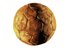 Soccer ball old Stock Images