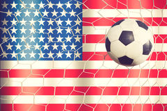 Free Soccer Ball On America Flag Background Stock Photo - 56811150