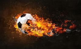 Free Soccer Ball On Fire Royalty Free Stock Images - 130619679