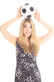 Soccer Ball On Head Stock Images