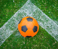 Soccer ball orange Royalty Free Stock Photography