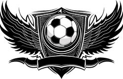 Soccer Ball Ornate Graphic Template royalty free illustration