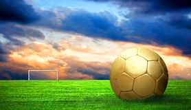 Soccer ball outdoor Stock Photos