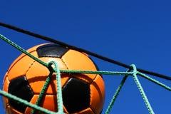 Soccer ball outdoors Royalty Free Stock Photo