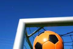 Soccer ball outdoors Royalty Free Stock Photography