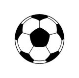 Soccer ball black and white Royalty Free Stock Image