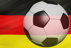 Soccer ball over the Germany flag 3d Stock Photography