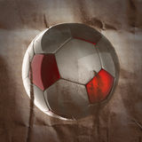 Soccer ball painted on paper Stock Images