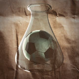 Soccer ball painted on paper Stock Photos