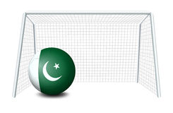 A soccer ball from Pakistan Royalty Free Stock Photography